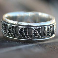 Wild Alaska Bear Paw Ring Sterling Silver ~ www.goldrushfinejewelry.com