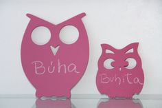 CHOK Pizzarras pizarrón rosa Buha y Buhita.