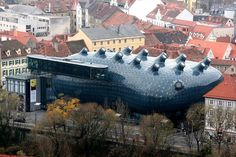 Information Hub Of Besties.: Spectacular Design of Kunsthaus Graz Art Museum in...