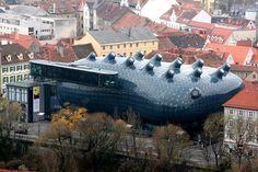 Information Hub Of Besties.: Spectacular Design of Kunsthaus Graz Art Museum in...