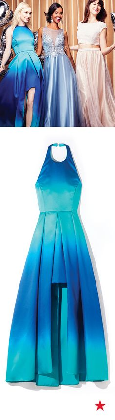 Prom Style 101: Halter top necklines are sooo in this year! Combine the trend with bold shades of your favorite color and the crown for style queen will totally be yours