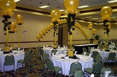 glamarous birthday party balloon centerpiece - Google Search