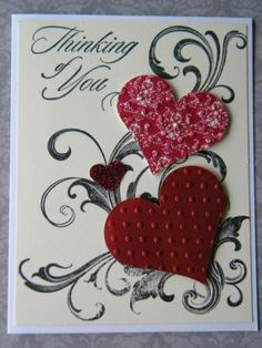 Stampin Up Card Kit, Love Valentine Handmade Card, Stampin' Up Ready Cards