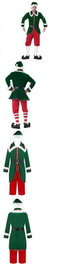 Men 52762  Men S Adult Costume Deluxe Velvet Santa Claus Elf Christmas Suit  -  95b37bd9fb0f