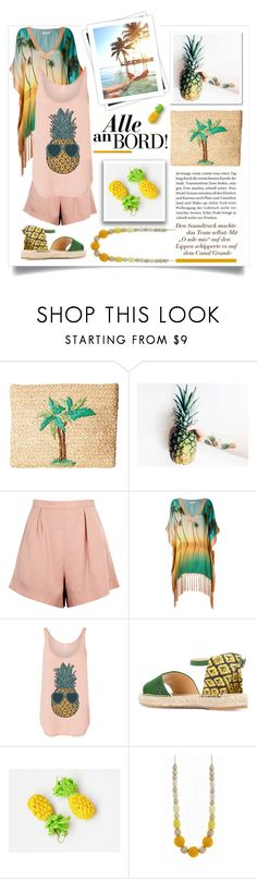 """Ladies of Summer Contest"" by crochetnecklaces ❤ liked on Polyvore featuring Hat Attack, Finders Keepers, Brigitte, GALA and Charlotte Olympia"
