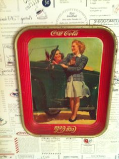 Coca Cola Tray 1942 Last Until WWII Is Over