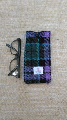 Handmade Genuine Harris Tweed Glasses Case, Sunglasses Cosy with Authenticity Label Scottish Tweed Great Gift Idea Ships from UK by JustSewYorkshire on Etsy