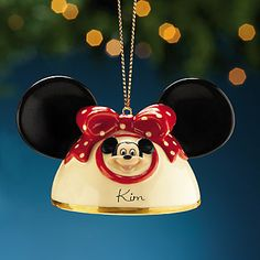 LENOX Personalized My Own Mickey Mouse Ears Ornament...love