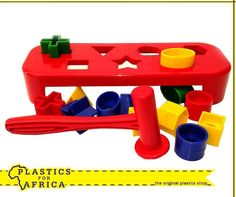 Spoil your little one with this hammer bench with assorted shapes from #PlasticsforAfrica. This will ensure hours of fun for him or her. #Toys