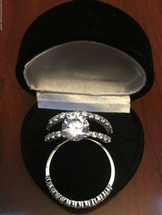PLATINUM & SS  LCS DIAMOND ENGAGEMENT RING SET SZ 12 + GIFT  #EXCEPTIONALBUY #WithDiamonds
