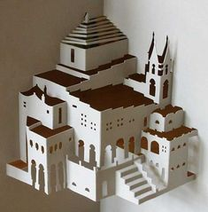 Detailed Paper Architecture by Dutch Artist Ingrid Siliakus.