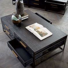 I like the exposed sides of the drawers; this would permit more storage without looking as blocky as some other big coffee tables