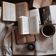 book, coffee, vintage