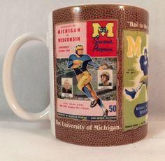 University of Michigan Hail to The Victors Coffee Cup Mug Programs | eBay