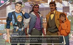Dream Daddy is a new dating sim where you play as a father and date other fathers. On the surface, it looks like a light game about hot dads and the dad jokes they make. It is that, but it's also a sincere look at what it's like to be a father. Band Puns, Dream Daddy Game, Hot Dads, Becoming A Father, Dating Simulator, Dad Jokes, Games For Girls, Funny Stories, Man Humor