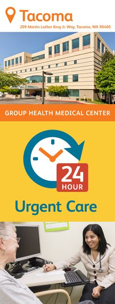 The Group Health Tacoma Medical Center features primary care delivered by family medicine and pediatric physicians. You'll also find a 24/7 Urgent Care Center, a pharmacy, a lab, radiology, and an injection room on site. There's also an extensive number of specialties featured here, plus an audiology/hear center and eye care services. Group Health, Urgent Care, Primary Care, Radiology, King Jr, Medical Center, Pediatrics, Pharmacy, Washington