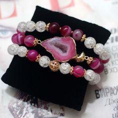 Браслеты из натурального камня - купить или заказать в интернет-магазине на Ярмарке Мастеров   Комплект браслетов из натуральных камней .<br /> …