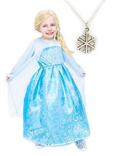 Ice Princess Costume with Snowflake Necklace (Large) *** You can get more details by clicking on the image.