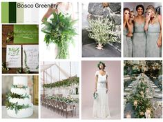Greenery Wedding Inspiration Board created by Cinque Terre Wedding