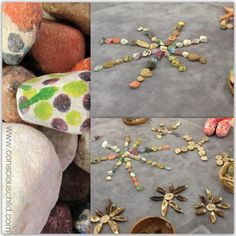 "Nature mandalas with rainbow stones from Conscious Child ("",)"