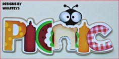 Craftecafe Picnic Title Paper Piecing Premade Scrapbook Page Die Cut Scrapbook Titles, Scrapbooking Layouts, Paper Craft Supplies, Scrapbook Paper Crafts, Paper Piecing, Diy Paper, Coloring Pages, Embellishments, Arts And Crafts