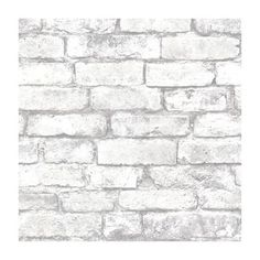 Brickwork Light Grey Exposed Brick Effect Wallpaper from Provincial Wallcoverings - 2604-21261