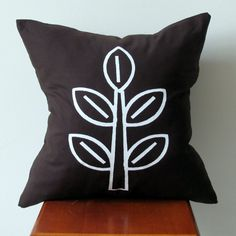 Modern Decorative Pillow Cover Hand Printed by AnyarwotDesigns, $20.00