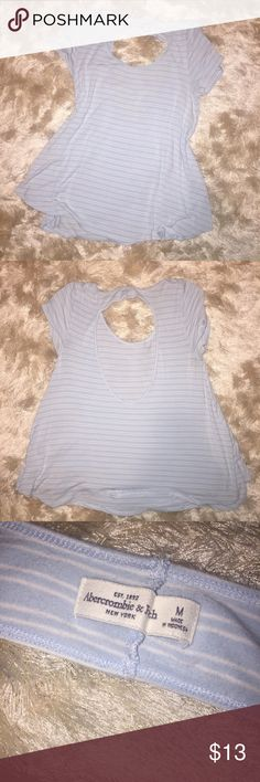 "•Abercrombie• Open Back Top Gently used. No stains/tears. Smoke free home.   Loose/swing fit and open back.   •sorry, I do not model clothing items•  No trades/holds    All of my items are listed on m.ercari with free shipping. Search ""shell40"" to see my listings. Abercrombie & Fitch Tops Tees - Short Sleeve"