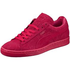 Puma Suede Classic + Colored Women's Sneakers ($70) ❤ liked on Polyvore featuring shoes, sneakers, suede lace up shoes, laced sneakers, puma shoes, puma trainers and grip trainer