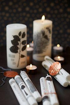 Kerzenverzieren DIY von lebenslustiger.com, candle DIY by lebenslustiger.com