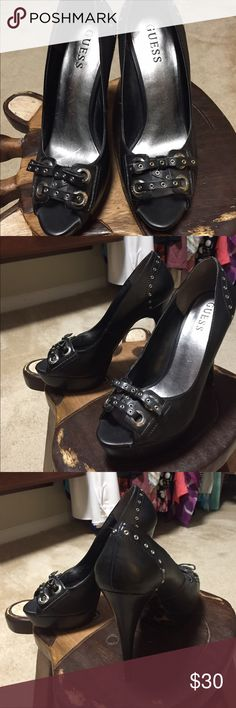 Guess platform shoes 5in heal, size 7 only worn 3-4 times Guess Shoes Platforms