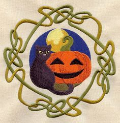 Wheel of the Year - Samhain:   Tradition holds that on Samhain (or Halloween, or All Hallows' Eve), the veil between our world and the spirit world is at its thinnest. This design will coordinate nicely with the Wheel of the Year.