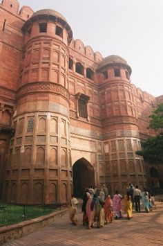The entrance gate to Agra Fort, Agra, India.UNESCO'S World Heritage Site since 1983