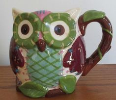 Look whooooo was just added to the Ebay store!  Click on photo for full details - he is adorable!  Pier 1 Imports Olli the Owl Coffee Cup Mug Hand Painted Dolomite Beverage NWT #Pier1 #owl #coffee #cup #mug #cute #hoot #bird #handpainted