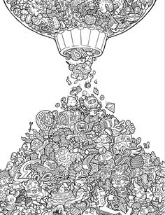 Doodle Fusion: Zifflin's Coloring Book (Volume 2): Zifflin, Lei Melendres…