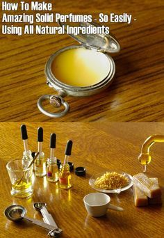 ❤ How To Make Amazing Solid Perfumes Using All Natural Ingredients ❤