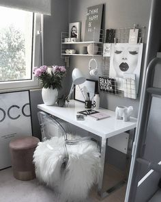 Over 25 small home office ideas for men and women (space-saving layout .,Over 25 small home office ideas for men and women (space-saving layout) - home office ideas room decoration room decor room de. Cozy Home Office, Home Office Design, Home Office Decor, Home Decor Bedroom, House Design, Cozy Bedroom, Office Designs, Wall Design, Desk In Bedroom