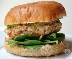 salmon burgers w guacamole more guacamole salmon burgers salmon burger ...