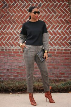 DIY Cropped Plaid Trousers & Top - Beaute Jadore