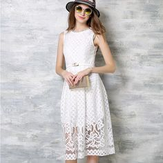 Summer Female Lace Long Dresses Young High Waist Sleeveless Slim Lace Long Dress Kawaii Oculos De Sol Feminino Robe Longue Femme