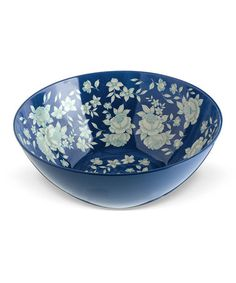 Look what I found on #zulily! Blue & White Large Salad Bowl #zulilyfinds