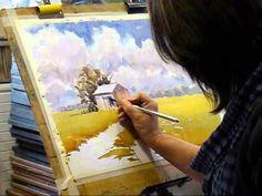 Dessin et peinture - vidéo 316 : Une aquarelle peinte à la campagne 2.