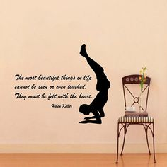 Yoga Wall Decals Wall Quotes Woman Yoga Is The By DecalMyHappyShop - Yoga studio wall decals