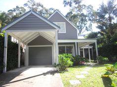 Beach Cottage fences, verandas and entrances Carport Designs, Pergola Designs, Carport Ideas, Driveway Ideas, Garage Ideas, Hamptons Style Homes, Hamptons House, The Hamptons, Carport Garage