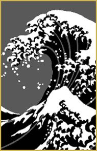 You could do a cool stencil design of this classic Japanese wave