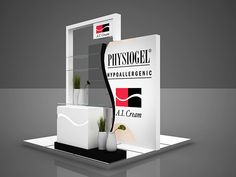 Creative Point of purchase displays and exhibition booths for trade-shows… Exhibition Stall, Exhibition Stand Design, Stand Modular, Kiosk Design, Signage Design, Banner Design, Stand Feria, Trade Show Booth Design, Cosmetic Display