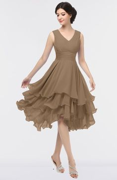 Bridesmaid Dresses ColsBM Grace Lilas Elegant V-neck Sleeveless Zip up Ruching Bridesmaid Dresses - Shop ColsBM Grace in 95 Colors, All Sizes Bronze Bridesmaid Dresses, Tea Length Bridesmaid Dresses, Tea Length Dresses, Homecoming Dresses, Graduation Dresses, Party Dresses, Mode Chic, Groom Dress, Dress Patterns