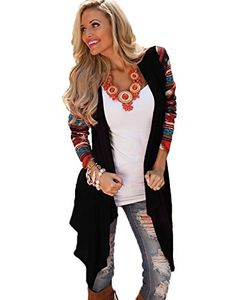 New Autumn Women And Girl Casual Knit Stitching Loose Irregular Retro Jacket  Coat Shawl Long Top 2016 High Quality