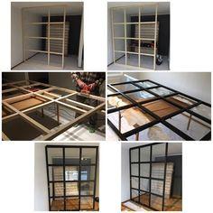 Have inspiration from Äntligen He # Finally # DIY glass wall DIY glass wall! Have inspiration from Äntligen He # Finally # DIY glass wall Ikea Room Divider, Room Dividers, Room Divider Ideas Bedroom, Glass Room Divider, Diy Room Decor, Bedroom Decor, Home Decor, Ikea Bedroom, Diy Furniture