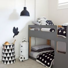 Apple Pie Black And White Kids Room Furniture Kelkarinfo Little Boy Bedroom Dueling Kids Rooms House Of Hipsters Monochrome Kids Bedroom The Only Girl In The Grey Boys Rooms, Kids Rooms, Deco Kids, Diy Zimmer, Kids Room Design, Kid Spaces, Room Colors, Paint Colors, Kids Furniture